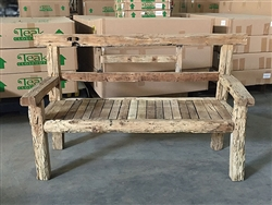 "170cm/67"" Mutt Recycled Teak Bench #0038"