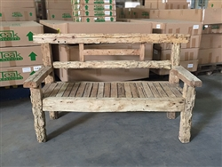 "170cm/67"" Mutt Recycled Teak Bench #0039"