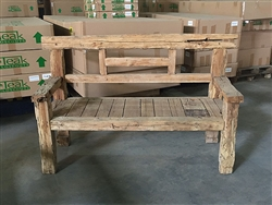 "165cm/65"" Mutt Recycled Teak Bench #0040"