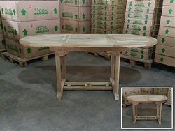 Adelaide Oval Extension Teak Table 120cm x 70cm - Extendable To 180cm