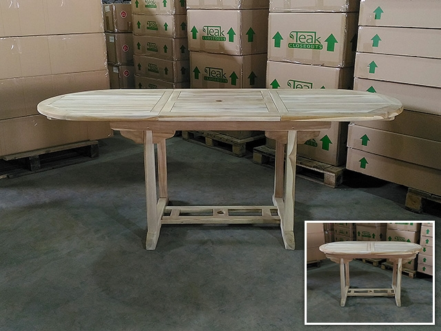 Adelaide Oval Extension Teak Table 140cm X 80cm Extendable To