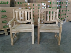 Novi Teak Arm Chair - 2-packs