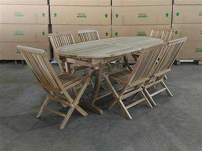 Andromeda Teak Table Set w/ 6 Shelia's Big Sister