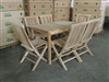 Krakal Teak Table 120x70cm Set w/ Shelia Folding Chairs