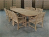 Carbury Oval Teble Set w/ 8 Sulawesi Arm Chairs