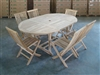 Kelapa Teak Table Set w/ Shelia Folding Chairs