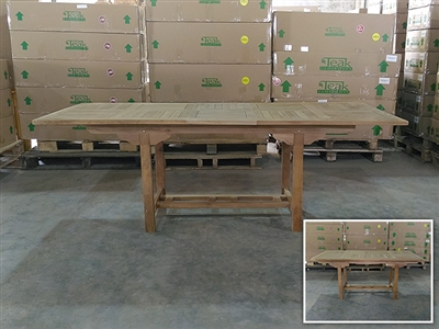 Palapa Rectangle Extension Teak Table 170 x 90cm - Extendable To 210cm
