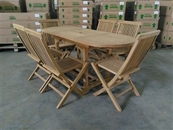 Sabrina Teak Table Set w/ Shelia Premium Folding Chairs