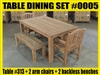 Reclaimed Teak Table #SET 0005 w/ 6 Menika Dining Chairs