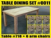 "Reclaimed 71"" Teak Table SET #0011 w/ 6 Menur Dining Chairs"