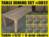 Reclaimed Teak Table SET #0012 w/ 6 Sumbawa Dining Chairs