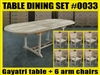 Gayatri Oval Extension Teak Table 180cm x 100cm - Extendable To 240cm SET #0033 w/ 6 Palu Arm Chairs