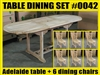 Adelaide Oval Extension Teak Table 140cm x 80cm - Extendable To 200cm SET #0042 w/ 6 Middleton Dining Chairs