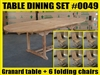 Granard Oval Extension Teak Table 180cm x 100cm - Extendable To 240cm SET #0049 w/ 6 Shelia Premium Folding Chairs