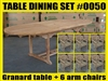 Granard Oval Extension Teak Table 180cm x 100cm - Extendable To 240cm SET #0050 w/ 6 Manchester Arm Chairs