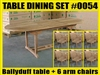 Ballyduff Oval Extension Teak Table 180cm x 100cm - Extendable To 240cm SET #0054 w/ 6 Sanur Arm Chairs