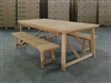 Klarion Rectangle Teak Table + 2 Backless Bench Set