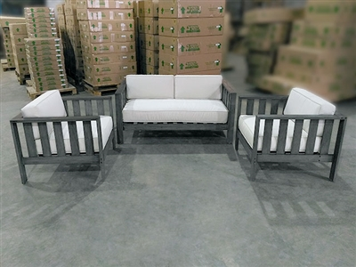 Pasadena Teak Deep Seating Sofa (1) + Deep Seating Chairs (2) Set