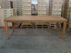 "S2DIO Teak Table #0055 - 240x100cm - 94"" x 40"""
