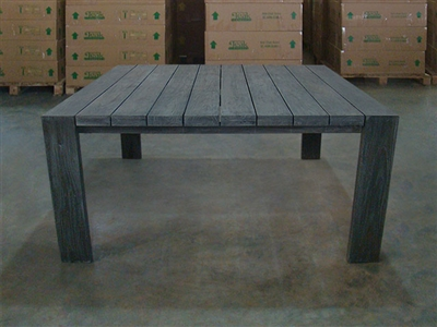 "S2DIO Teak Table #0069 - 164x164cm - 65"" x 65"""