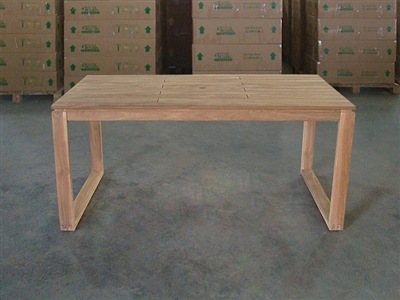 "S2DIO Teak Table #0103 - 160x90cm - 63"" x 35"""