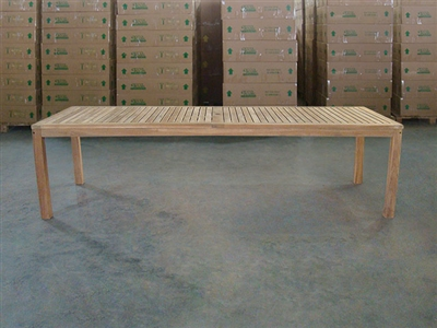"S2DIO Teak Table #0105 - 280x100cm - 110"" x 40"""