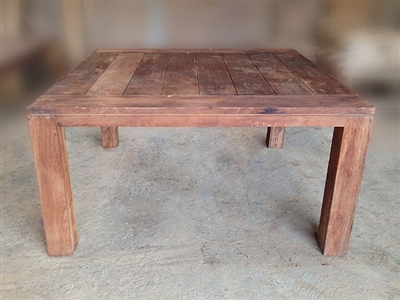 "S2DIO Teak Table #0006 - 150x150cm - 59"" x 59"""