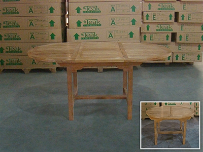 Donegal Round Extension Table 120cm/170cmx120