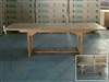 Feakle Rectangle Extension Table 180cm regular to 240cm w/extension x 90cm width