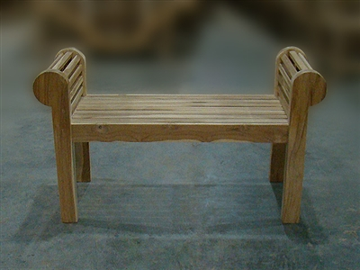 "120cm/48"" Lutyen Teak Backless Bench"