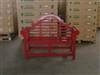 teak lutyen bench 137 finish red