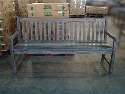 "180cm/72"" Roberto Teak Bench Special Finish Grey"
