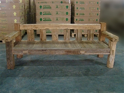 "200cm/79"" Mutt Recycled Teak Bench #001"