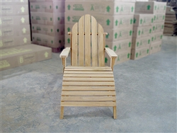 Virginia Teak Adirondack Chair w/stool