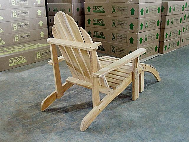 virginia adirondack teak chair