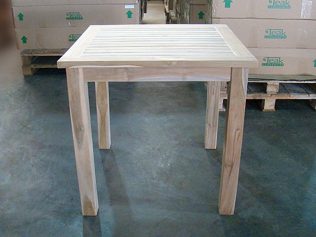 Tumini teak square bistro table 80cm32 watchthetrailerfo