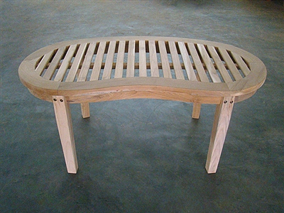Teak Coffee Table - Peanut/Banana