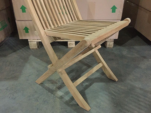 Teak Folding Chair british gardens premium b-grade folding chair