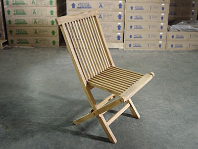 teak bg folding chair b-grade