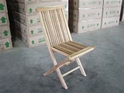 British Gardens Teak Folding Chair (c-grade)