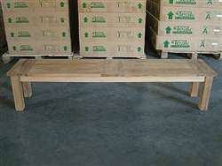 "200cm/79"" BG Teak Backless Bench"