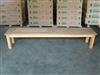 "220cm/87"" BG Teak Backless Bench"