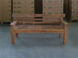 "180cm/71"" Mutt Recycle Teak Bench #0012"