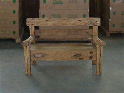 "147cm/58"" Mutt Recycled Teak Bench #0013"