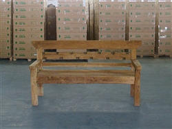 "162cm/64"" Mutt Recycled Teak Bench #0017"