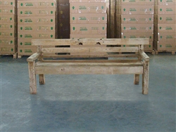 "211cm/83"" Mutt Recycled Teak Bench #0021"