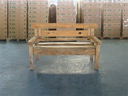 "162cm/64"" Mutt Recycled Teak Bench #0023"