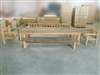 Mutt Recycled Teak Table Set w/ (1) Bench, (1) Backless Bench and (2) Armchairs