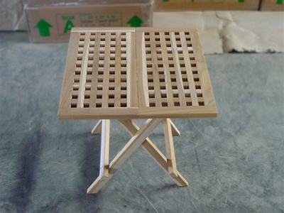 teak side table lattice
