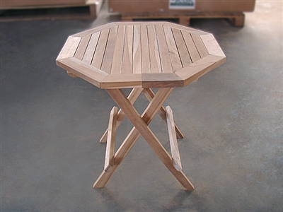 teak side table octagon